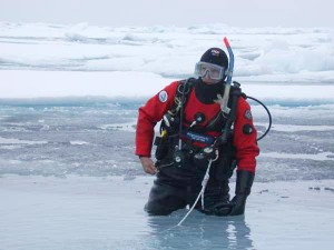 NOAA Diver Wearing a Drysuit