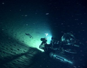 DeepWorker sub films a giant grenadier at 1,900 feet in the Bering sea