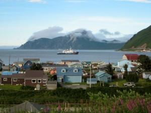 Esperanza at Anchor off of Unalaska Community