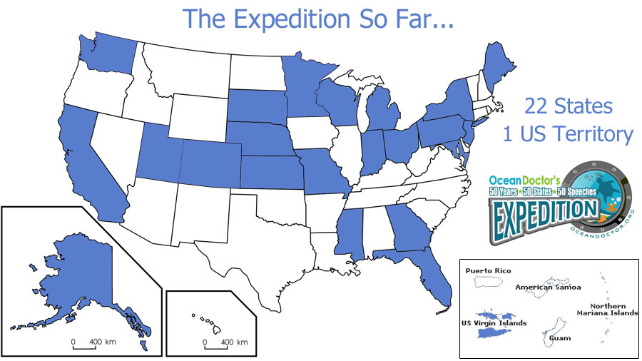 50 States Expedition Status Map
