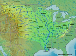 Mississippi River Drainage into the Gulf of Mexico