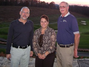 The Ocean Doctor (L), with Sherri Velliquette-Hilligas, Administrative Assistant (Center) and Jim Kirakofe, Administrator (R) of the Licking County Soil & Water Conservation District