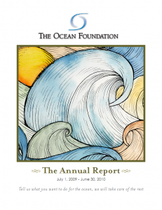 The Ocean Foundation Annual Report 2010