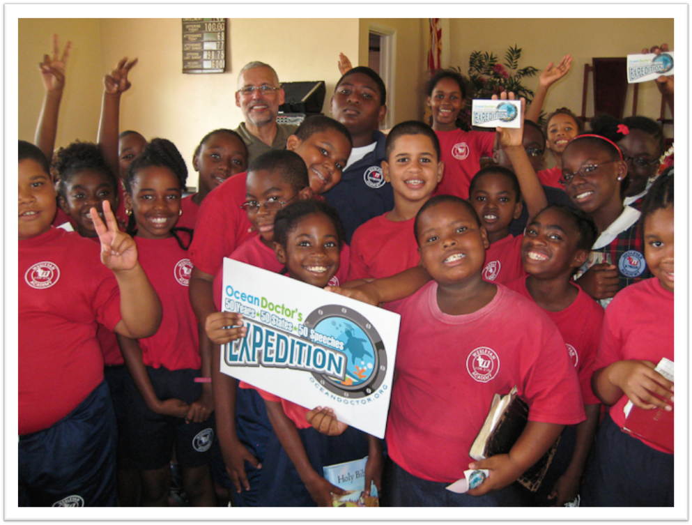 Elementary school students in St. Thomas, U.S. Virgin Islands