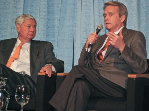 National Oil Spill Commission Co-Chairs Bob Graham (L) and Bill Riley (R) at the National Conference on Science, Policy and the Environment