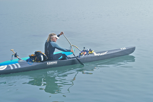 Margo Pellegrino during her Pacific Paddle 2010