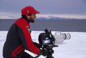 Adam Ravetch filming in the Arctic