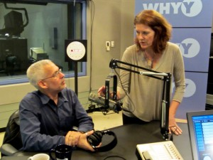 WHYY's Marty Moss-Coane prepares to interview Dr. David E. Guggenheim