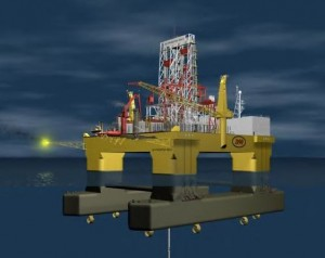 The 53,000-ton the Italian-owned, Chinese-built Scarabeo 9 is a state-of-the-art, semi-submersible ultra-deepwater drilling platform capable of working in up to 12,000 feet of water depth with a 50,000 foot (9.5 miles) drilling depth capacity. The platform has accommodations for full-time support of up to 200 workers. (Source: ?Background on Scarabeo 9? in CubaStandard.com by Jorge Pi?on,)