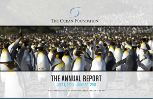 The Ocean Foundation Annual Report 2011