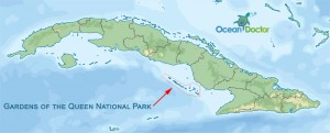 Map of Cuba's Gardens of the Queen National Park