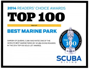 Cuba's Gardens of the Queen was voted Best Marine Park 2014 by Readers of Scuba Diving Magazine