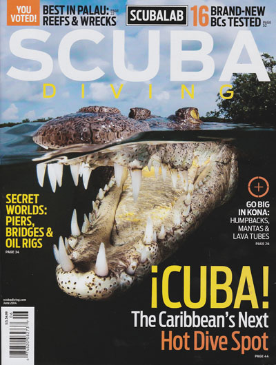 Ocean Doctor's Cuba Travel Program is the cover story in Scuba Diving Magazine