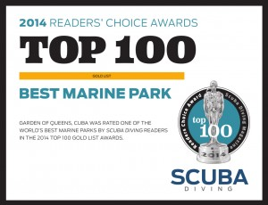 Gardens of the Queen was rated one of the world's best marine parks by Scuba Diving readers