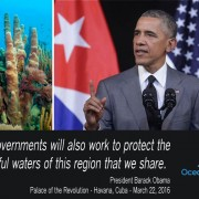 HAVANA, CUBA - MARCH 22:  U.S. President Barack Obama delivers remarks at the Gran Teatro de la Habana Alicia Alonso in the hisoric Habana Vieja, or Old Havana, neighborhood March 22, 2016 in Havana, Cuba. Described as a message to the Cuban people about his vision for the future of Cuba, Obama's speech will be nationally televised to the 11 million people on the communist-controlled island.  (Photo by Chip Somodevilla/Getty Images)