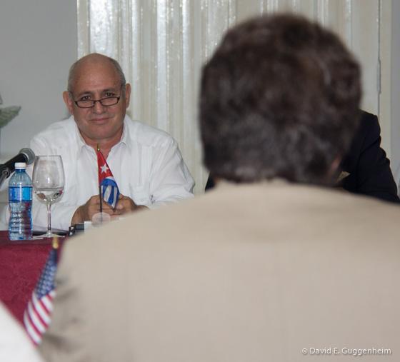 Vice Minister José Fidel Santana Núñez and Ambassador David Balton