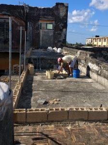 Cat Enclosure Under Construction