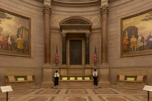 The U.S. Constitution beneath the Rotunda of the National Archives (Photo: Jeff Reed)