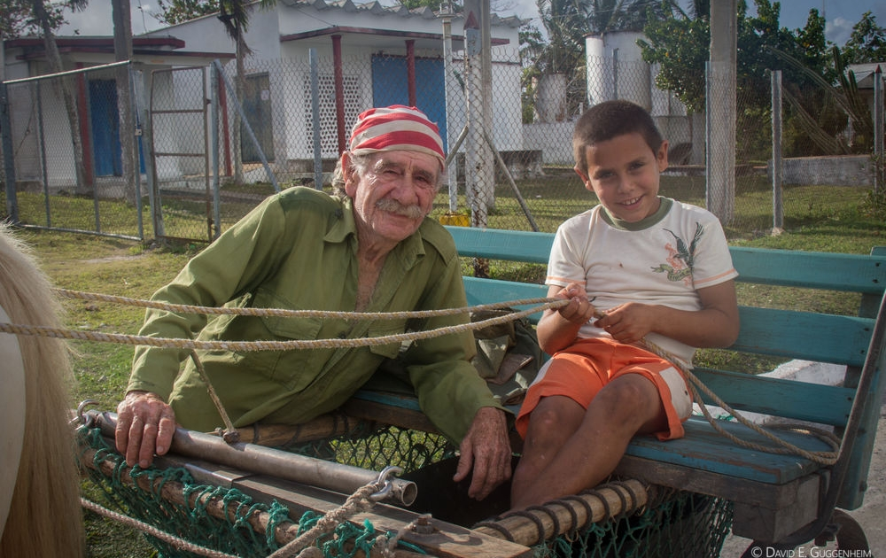 "Teaching his grandson to ""drive"" in the coastal community of Cocodrilo where Ocean Doctor is helping develop sustainable alternatives"