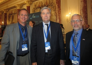 Dr. Fabián Pina, former director of the Cuban Center for Coastal Ecosystem Research (L), Senator Sheldon Whitehouse (Center) and myself (Right) at the State Department continuing our work to develop a blueprint for U.S.-Cuba collaboration in marine science which laid the foundation for the first agreements between the U.S. and Cuba